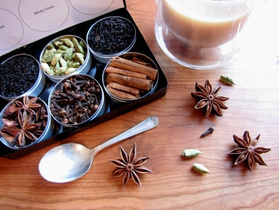 Organic DIY chai tea kit  with recipe - set of 6 - a great gift for your favorite tea lover.