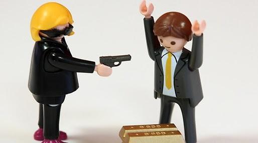 Beväpnad, Leksak,  Playmobil, Barn, City action,  BR Leksaker, bankrån