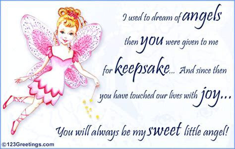 My Sweet Little Angel  Free Son & Daughter eCards