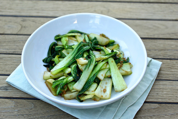 Karen's Kitchen Stories: Stir-Fried Baby Bok Choy with Oyster Sauce