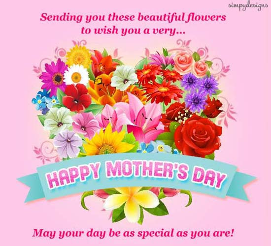 Beautiful Flowers On Mothers Day Free Happy Mothers Day Ecards