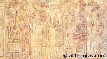 Detalle de las pinturas románicas de Pelayos del Arroyo