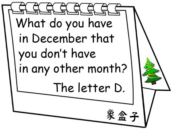december english riddle joke christmas