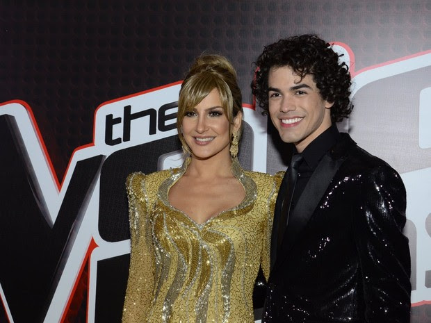 Claudia Leitte e Sam Alves na final do 'The Voice Brasil', no Rio (Foto: Roberto Teixeira/ EGO)