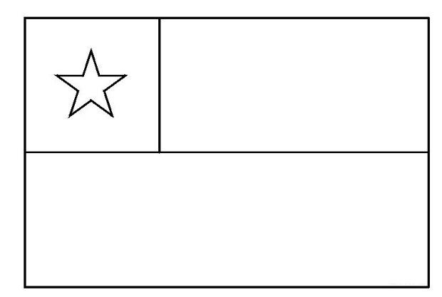 Bandera De Chile Para Colorear Icarito