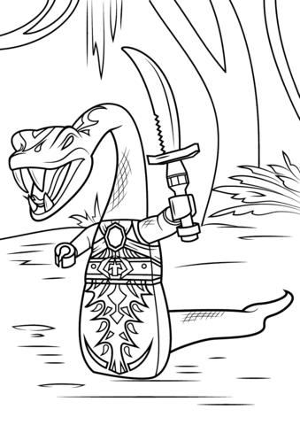 lego ninjago pythor coloring page  free printable