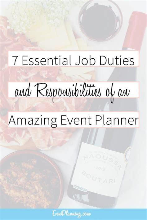 Event Planning Job Description and Responsibilities