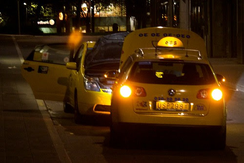 Mating dance of the taxi cabs