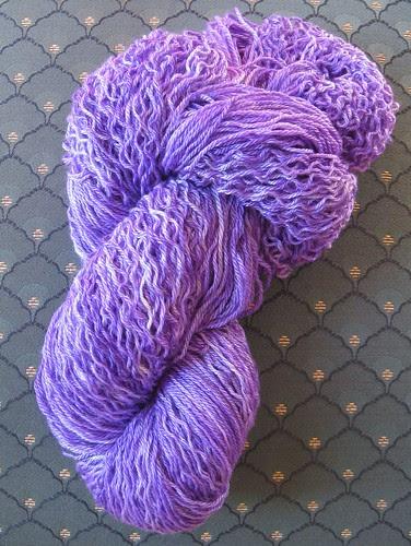 Purple yarn in skein