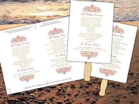 printable wedding program fan template microsoft word