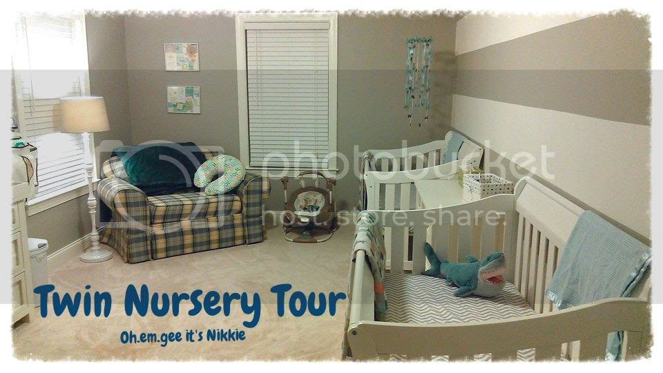Baby Boy Nursery Tour: Oh.em.gee It's Nikkie: Twin Baby Boy Nursery Tour
