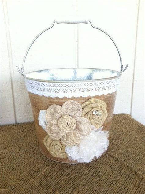 Rustic Wedding Ice Bucket   Metal Pail, Country Wedding