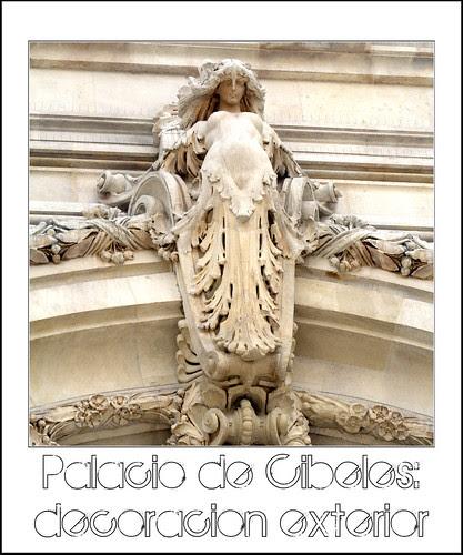 palacio de cibeles: decoración exterior