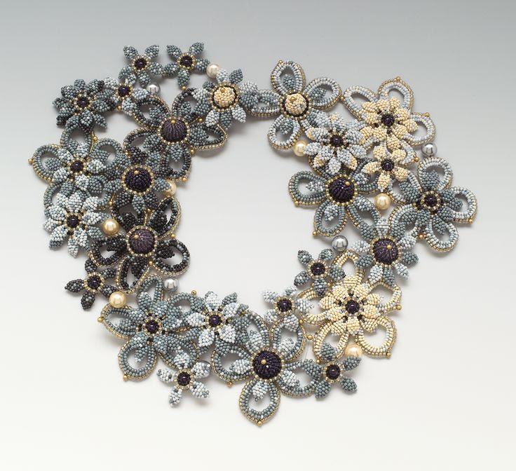 Necklace | Hiroko Suzuki. 'Blue'