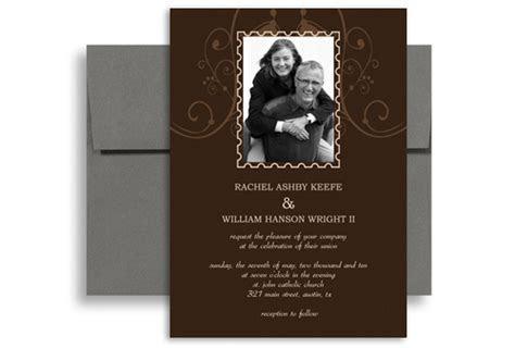 Photo Customise Second Wedding Invitation Example 5x7 in