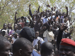 People in Senegal gather in the aftermath of the national elections that put President Wade out of power. The president has conceded defeat. by Pan-African News Wire File Photos