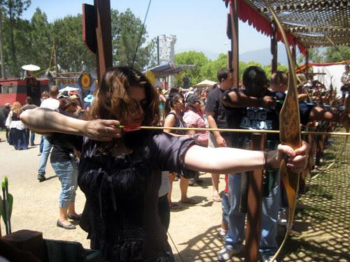 Me shooting an arrow at the Renaissance Fair