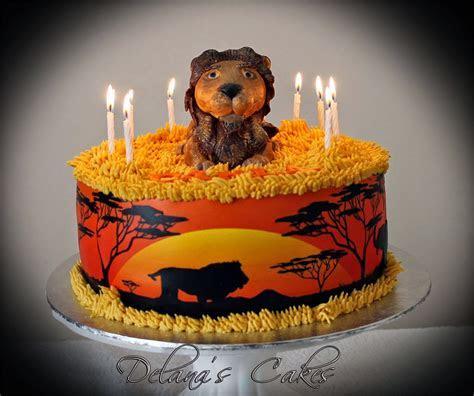 Delana's Cakes: African Savannah Lion Cake