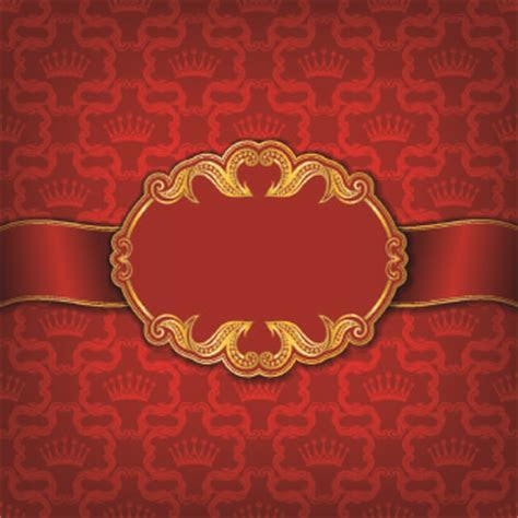 Golden frame with luxury background 01   Vector Background