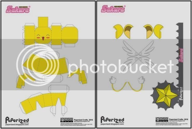 photo Cardcaptor Sakura - Kero Papercraft via Papermau 02_zpsrl0k0qsr.jpg