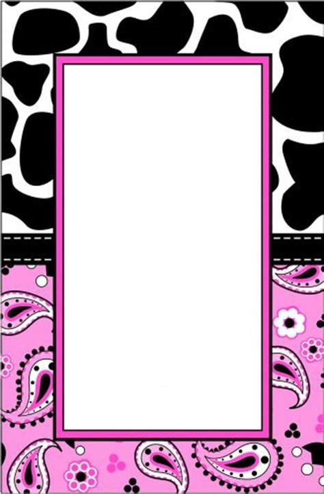 Pink Cow Paisley Party Invitation   Wiregrass Weddings