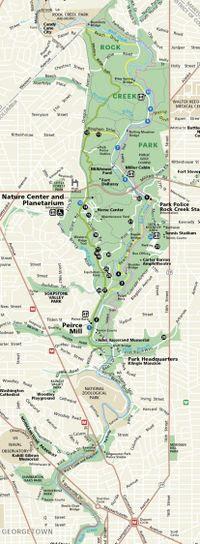 Rock Creek Park map