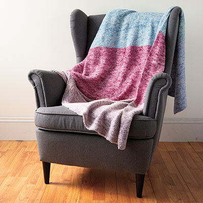 Free Knitting Pattern for a First Time Knitter Knit a Blanket