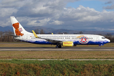 TUIfly (TUIfly.com) Boeing 737-8K5 WL D-AHFR (msn 30593) (Baren Marke - 100 Years: 1912-2012) BSL (Paul Bannwarth). Image: 910488.