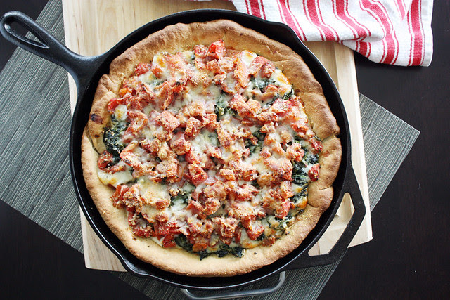 deep-dish pizza.