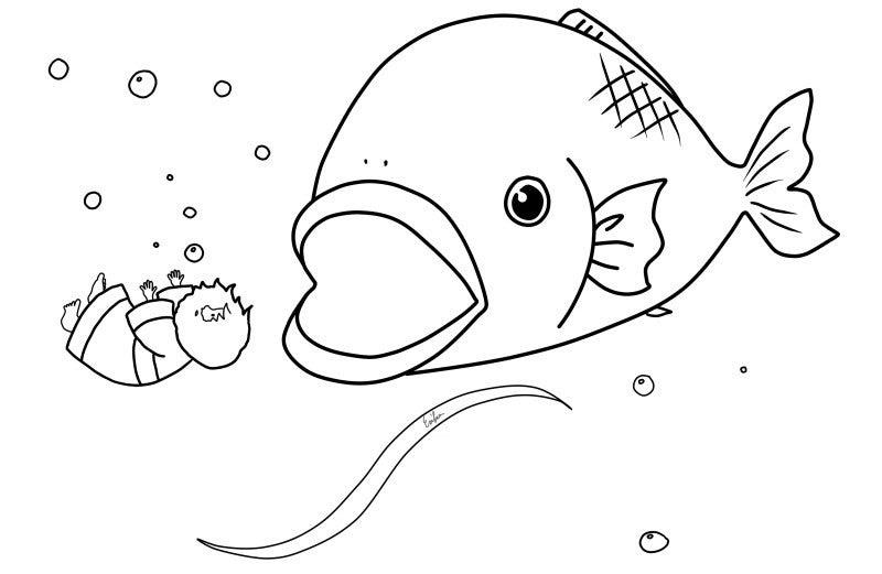 魚 イラスト 塗り絵 印刷用ぬりえ