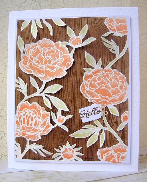 Woodgrain and Flowers
