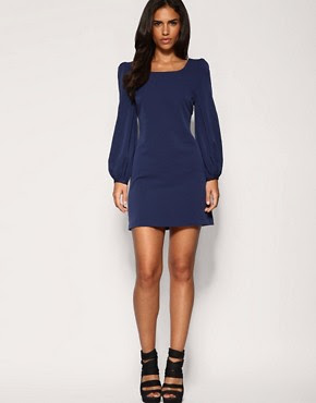 Image 4 of ASOS PETITE Bell Sleeve Shift Dress