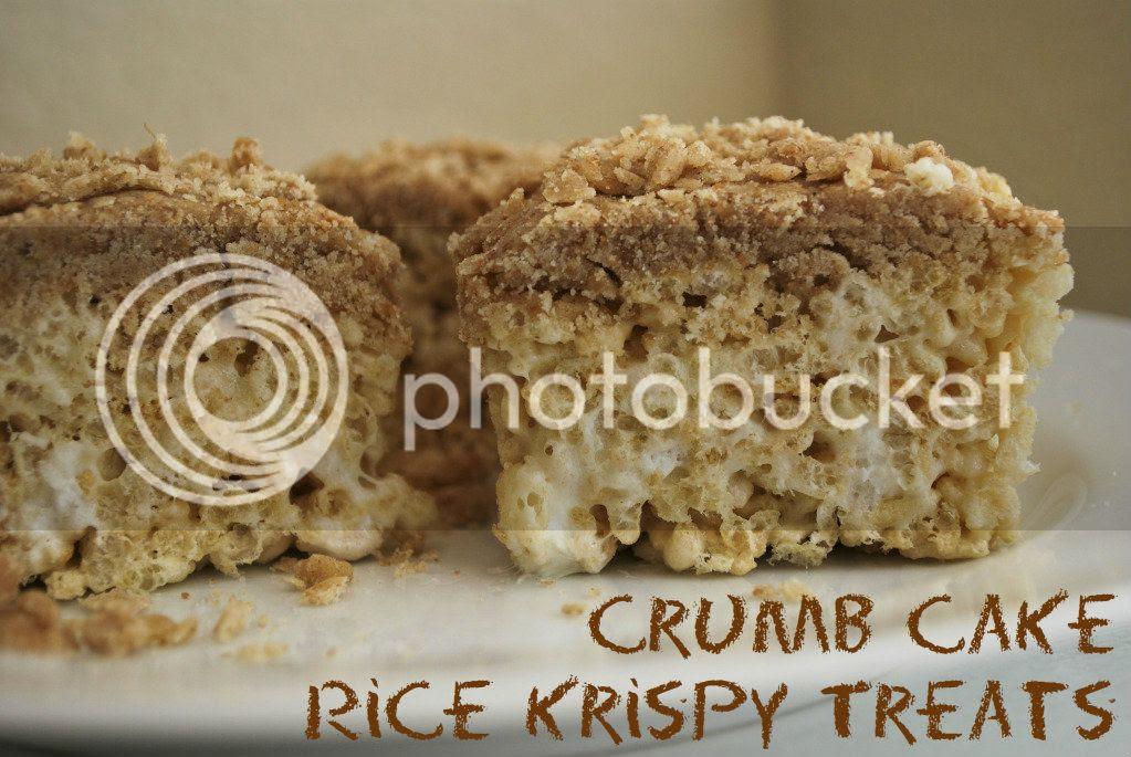 Crumb Cake Rice Krispy Treats