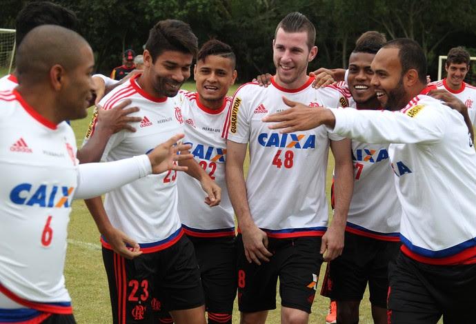 Eduardo da Silva, Everton, Paulo Victor e Alecsandro, Flamengo (Foto: Gilvan de Souza / Flamengo)