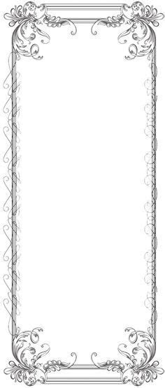 Free black Clip Art Borders and Frames weddings   Custom