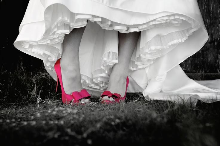 pink wedding shoes #pinkedbrides Get P.I.N.K.E.D! for cancer prevention