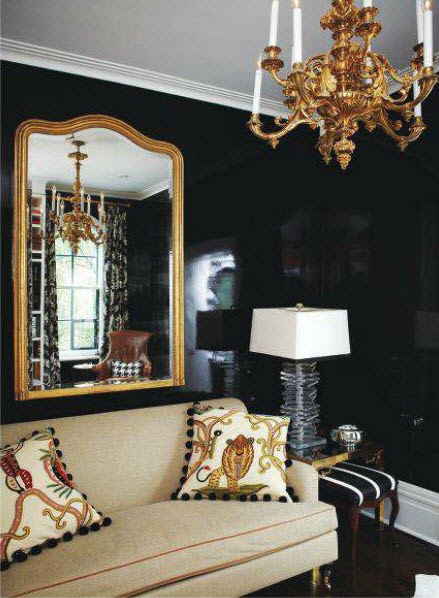 Trends For Living Room Black Accent Wall pictures