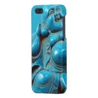 Smiling Fortune Happy Buddha Carving Turquoise iPhone 5/5S Covers