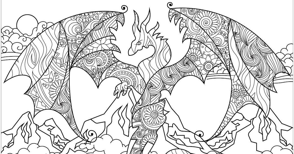 drachen malvorlagen für erwachsene  ausmalbilder
