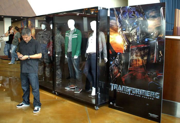 The outfits worn by Josh Duhamel, Tyrese Gibson, Shia LaBeouf and Megan Fox in TRANSFORMERS 2.