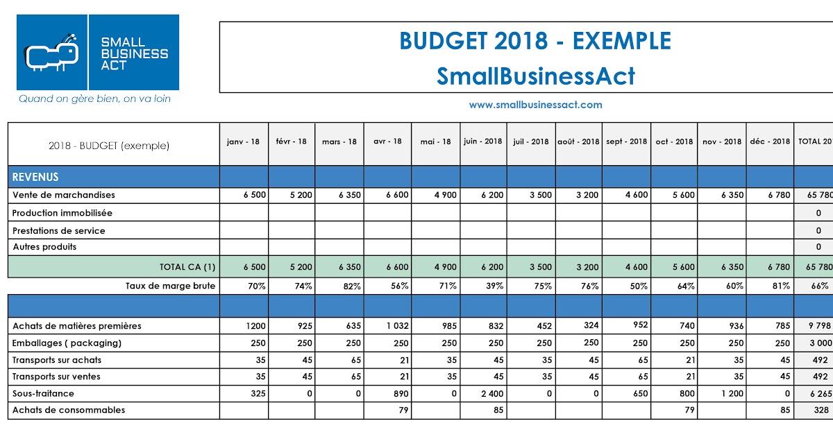 Exemple De Compte D Exploitation Prévisionnel Excel - Le ...