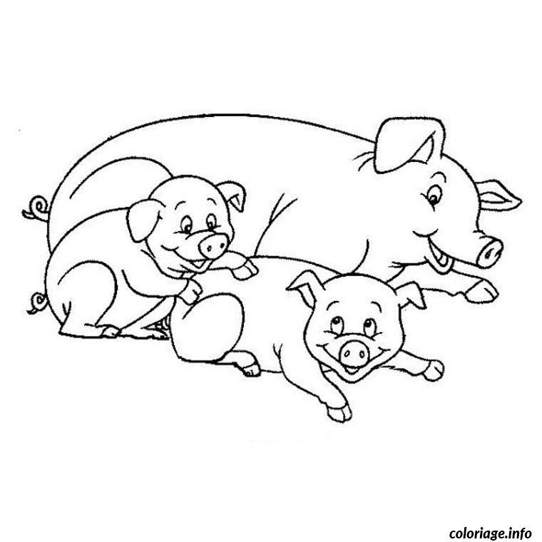 【Télécharger】 Coloriage Cochon à Imprimer