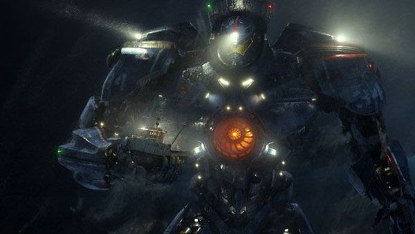The Gipsy Danger is ready for combat in PACIFIC RIM.