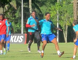 Ronaldinho Gaúcho treino Flamengo (Foto: Janir Junior / Globoesporte.com)