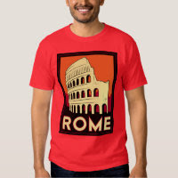 rome italy coliseum europe vintage retro travel t-shirts
