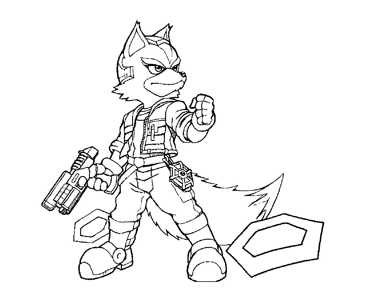 Fox Coloring Sheet Carinewbi