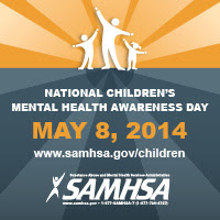 Logo: National Children's Mental Health Awareness Day, May 8, 2014, Substance Abuse and Mental Health Services Administration (SAMHSA)