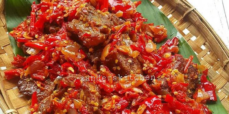 Resep Dendeng Balado Basah Oleh Xander's Kitchen