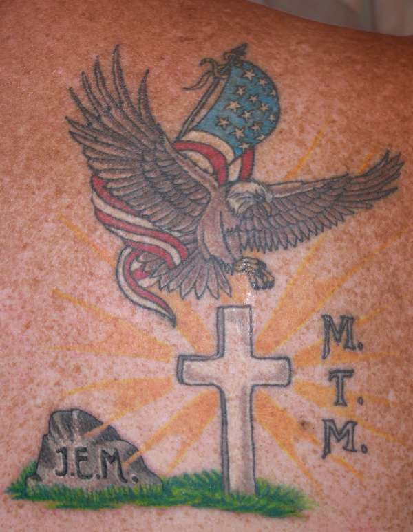 Dad Tribute Added To God Family Country Tattoo