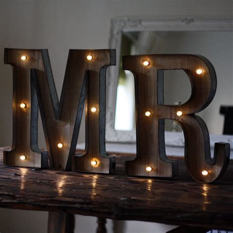 Carnival Light Up Letters MR ? The Wedding of My Dreams